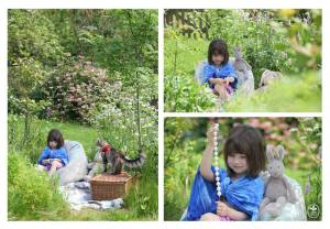 Iris Grace in the Exploring in the Yard  may 2014