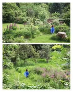 Iris Grace in Her Garden